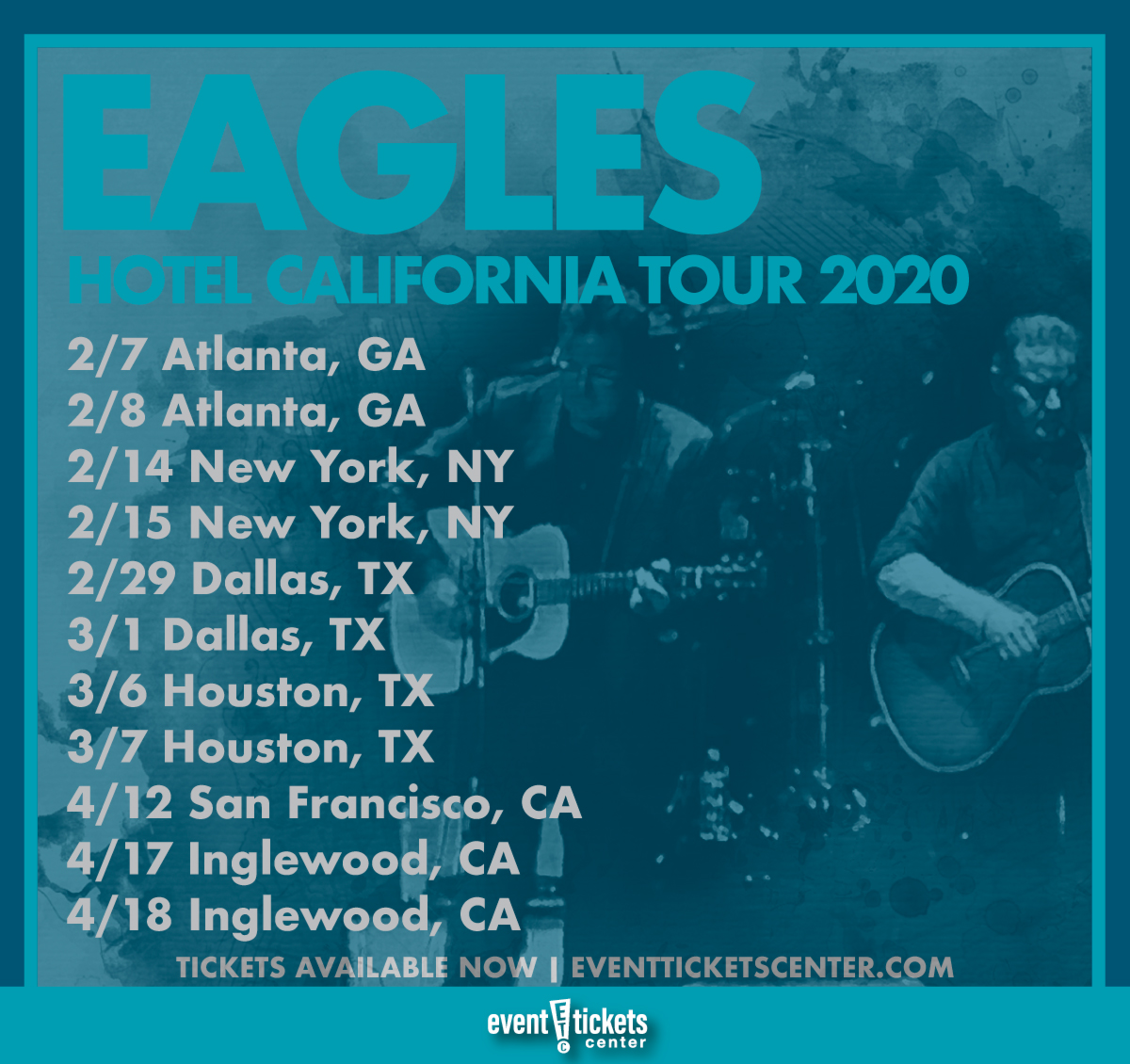 eagles announce 2020 hotel california tour. Black Bedroom Furniture Sets. Home Design Ideas