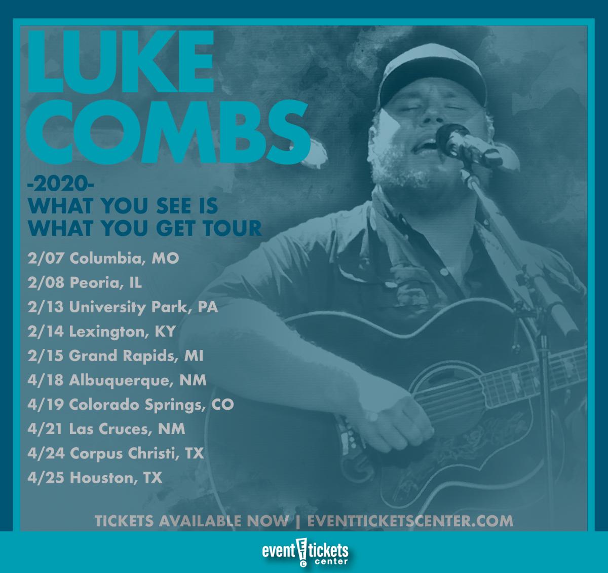 luke combs tour dates 2020