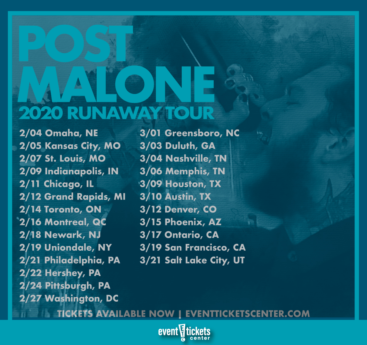 "Post Malone Concert: Post Malone Announces Second Leg Of ""Runaway Tour"""