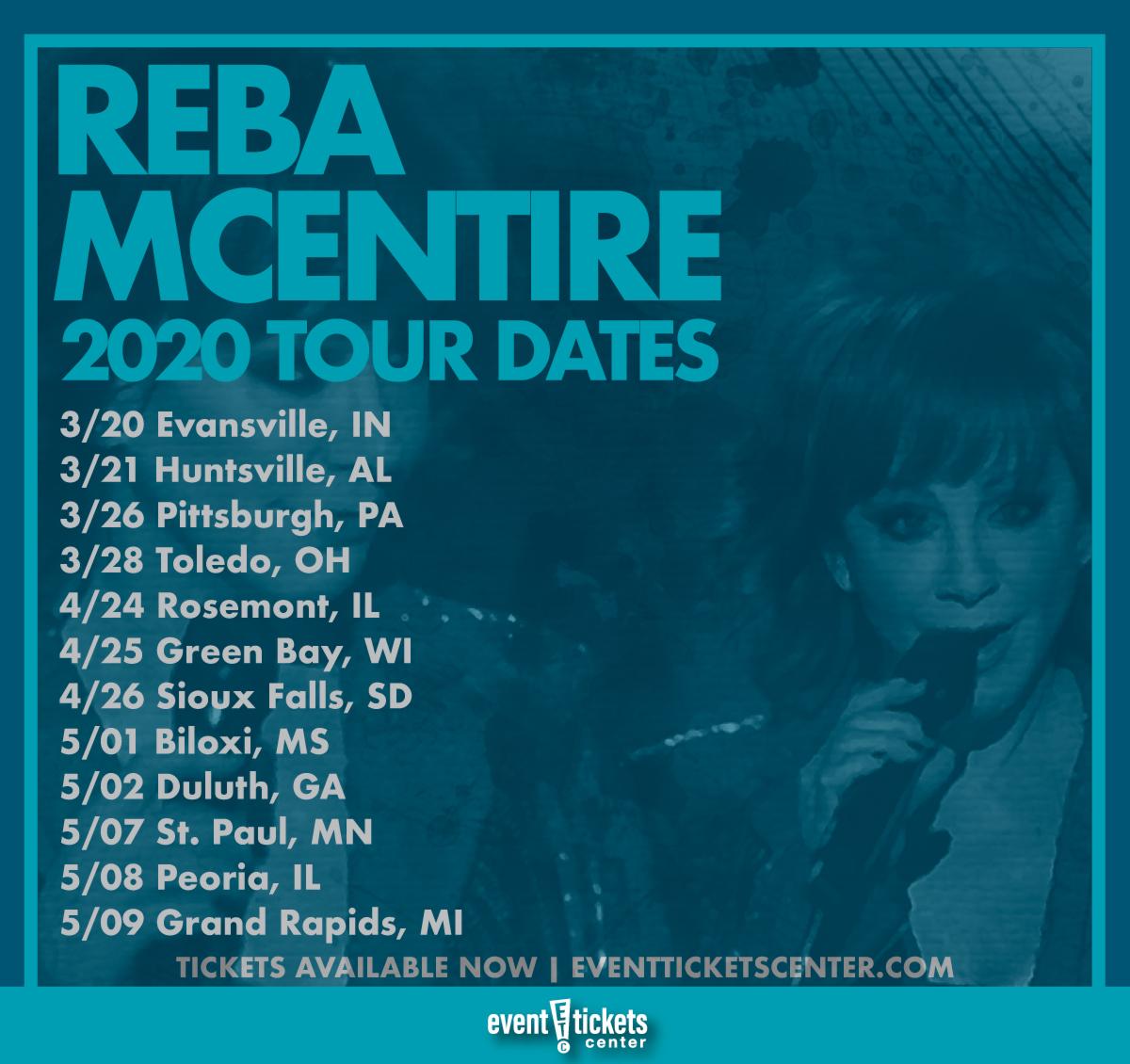 reba mcentire tickets 2020